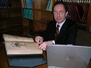 Dr Alain Touwaide at work in the Library at Soliman the Magnificent Mosque, Istanbul, examining ancient herbals and documents from which he recovers information about ancient therapeutic uses of plants Credit: Emanuela Appetiti