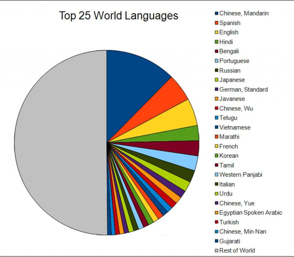 Distribution of Speakers Among Languages