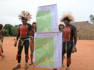 Mapping traditional territories in the Xingu Indigenous Park. Credit: Amazon Conservation Team