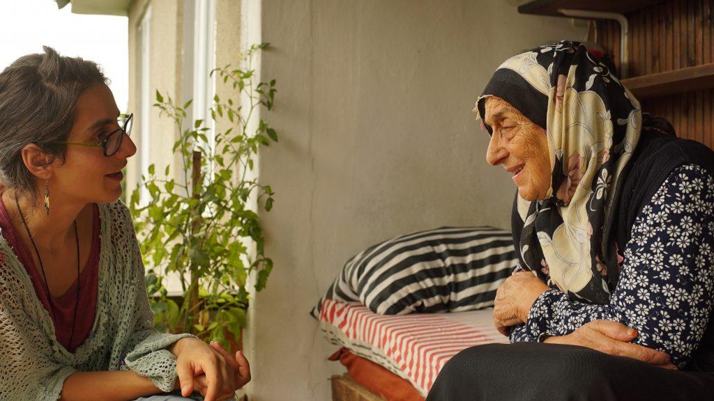 Ceren Kazancı interviewing with a Laz elder on cultural memories
