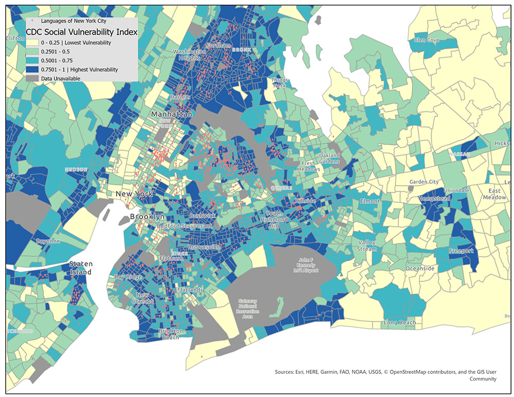 New York City and a Social Vulnerability Index