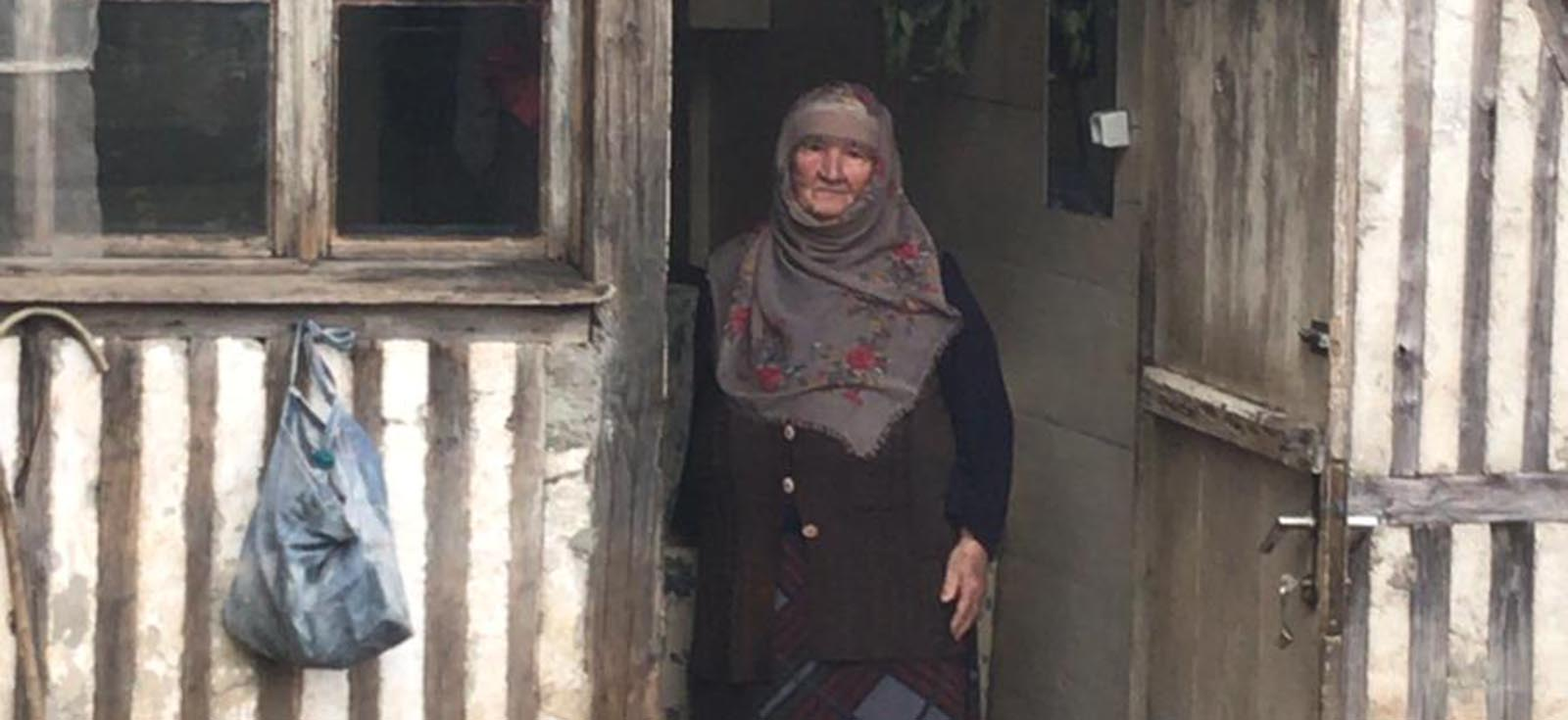 Ceren's aunt staying at her village in Turkey