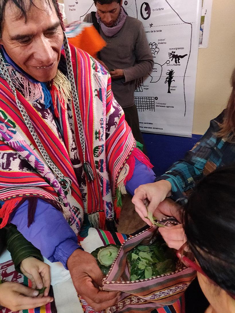 Participants experiencing Andean culture