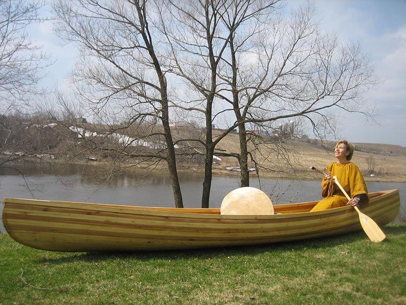 canoe by Etchemin River