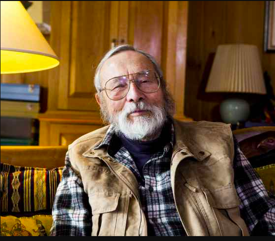 George Appell, a champion of the world's oral traditions, at his home in Maine. Ca. 2015. Photo: ACLU Maine.