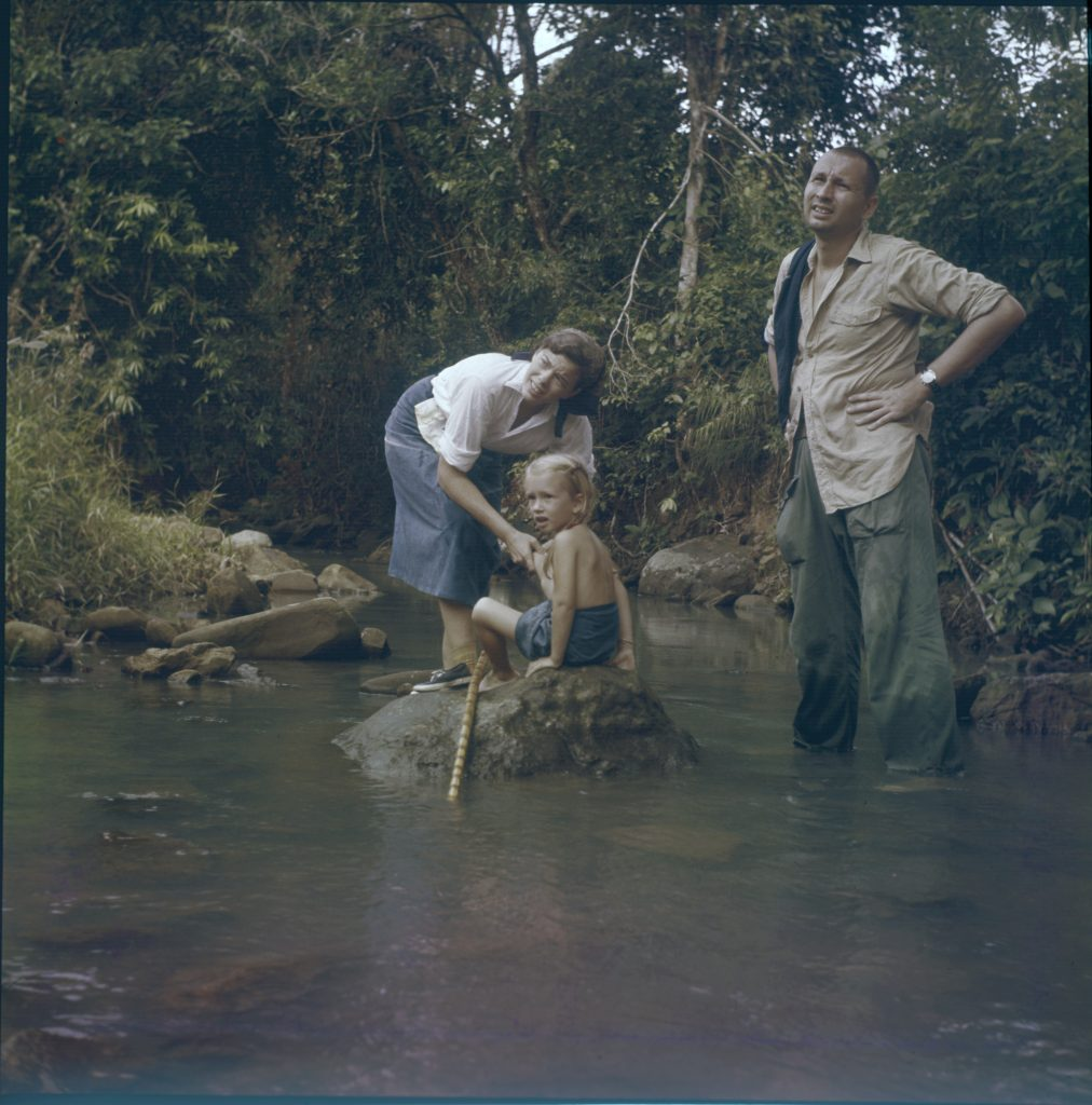 """George and Laura W.R. Appell with daughter Laura P. in Sabah, Borneo, ca. 1963. Photo: Unknown."""""""