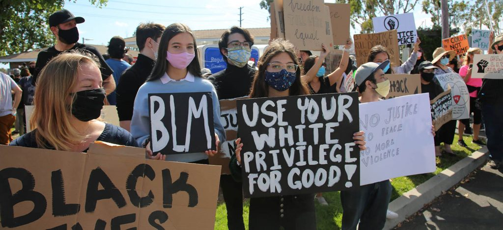 Lake Forest, CA, USA - Black Lives Matter Protest