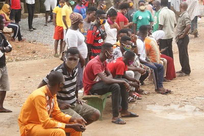Ghanaians queued up for the voters registration