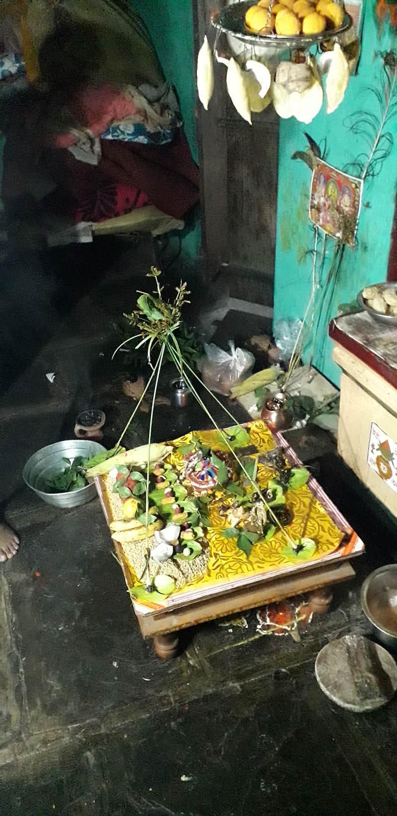 Lavhan grass worship