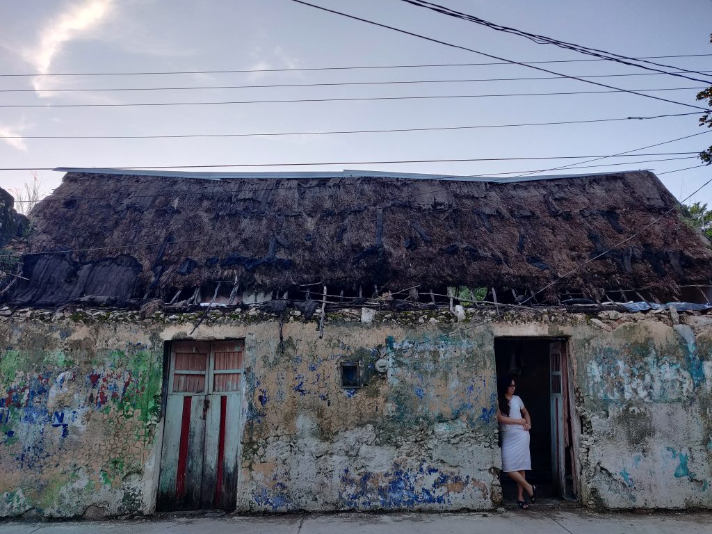 A Mayan house in which most of the Mayans locked-down during the Covid-19 . Without internet facilities we were disconnected from the globalized world but re-connected to nature. Photo: Josue Ayuso, 2020