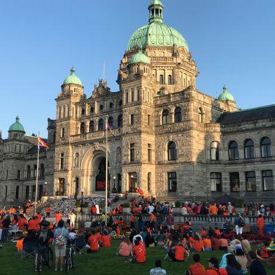 First Nations Protest BC Provincial Legislature July 1